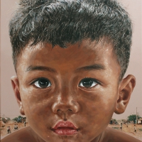 Lim Young Sun: Cambodia 116.5x90cm Oil on Canvas 2009