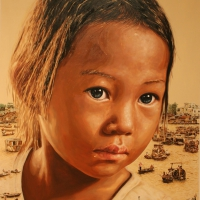 Lim Young Sun: Tonle Sap 260x194cm Oil on Canvas 2009