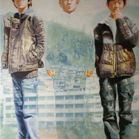 Lim Young Sun: Busan 260x194cm Oil on Canvas 2008