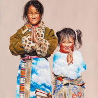 Lim Young Sun: Tibet Jokhang 205x310cm Oil on Canvas 2011