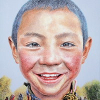 Lim Young Sun: Tibet 162x130cm Oil on Canvas 2011
