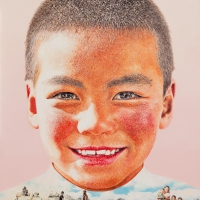 Lim Young Sun: Tibet Himalaya 162x130cm Oil on Canvas 2012