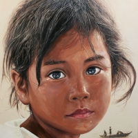 Lim Young Sun: Cambodia 162x130cm Oil on Canvas 2009
