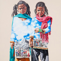 Lim Young Sun: Nepal 260x194cm Oil on Canvas 2013